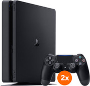 Sony PlayStation 4 Slim 500GB + 2 DualShock Controllers