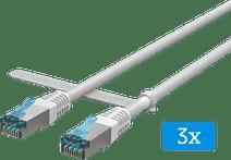 BlueBuilt Netwerkkabel STP CAT6 1 meter Wit 3-Pack