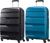 American Tourister Bon Air Spinner 75cm Black + 75cm Seaport Suitcase Set