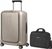 Samsonite Prodigy Spinner 55cm Ivory Gold + Samsonite GuardIT