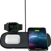 Mophie 3-in-1 Wireless Charger 7.5W with Apple Watch Stand Black