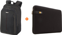 Samsonite GuardIt 2.0 17'' Black + Case Logic 15'' Laptop Sleeve