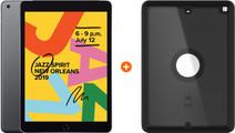 Apple iPad (2019) 128 GB Wifi Space Gray + Otterbox Defender Full Body Case