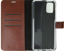 Valenta Samsung Galaxy A71 Book Case Leather Brown