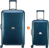 Delsey Turenne 55cm + 75cm Spinner Blue Suitcase Set