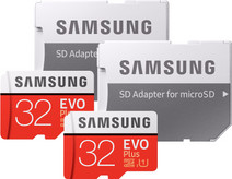 Samsung microSDHC EVO+ 32GB 95MB/S CL 10 + SD Adapter Duo Pack