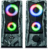 Trust Gaming GXT 606 Javv RGB verlichte 2.0 Pc Speaker - Grijs camo