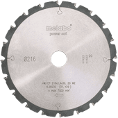 Metabo Saw Blade Power Cut 216mm 20T
