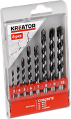 Kreator Concrete bore set 8-parts 3-10mm