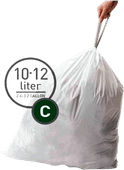 Simplehuman Trash Bags Code C - 10 to 12 Liters (20 units)