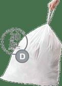 Simplehuman Waste bags Code D - 20 Liter (20 pieces)