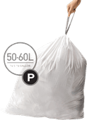 Simplehuman Waste bags Code P - 50-60 Liter (20 pieces)