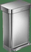 Simplehuman Rectangular Liner Pocket 45 Liter stainless steel