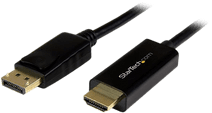 StarTech DisplayPort to HDMI Converter Cable 4K 2 Meters