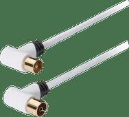 König Coax Antennekabel 120 dB 2 meter wit