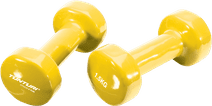 Tunturi Vinyl Dumbbells 2x 1,5 kg Yellow