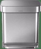 Simplehuman Rectangular Liner Pocket 30 Liter stainless steel
