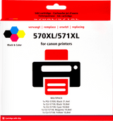 Pixeljet PGI-570/CLI-571XL Cartridges Combo Pack