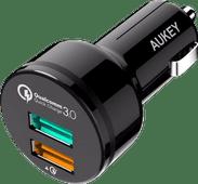 Aukey Car Charger Dual USB 3.0A Black
