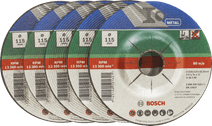 Bosch Grinding disc Metal 115 mm 5 pieces