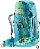 Deuter ACT Trail Pro 38L Petrol / Avocado - Slim Fit