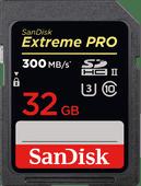 Sandisk SDHC Extreme Pro 32GB 300MB/s C10 UHS-II