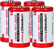 Perfectpro NiMH batteries 4 x C