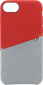 Decoded Apple iPhone SE 2 / 8 / 7 / 6 / 6s Back Cover Leer Rood