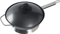 Outdoor chef Wok pan with handle and lid Ø 35 cm