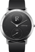 Withings Steel HR Zilver/Zwart 40 mm