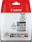 Canon PGI-580/CLI-581 Cartridges Combo Pack