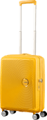 American Tourister Soundbox Expandable Spinner 55cm Golden Yellow