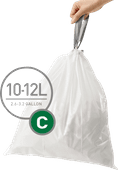 Simplehuman Waste bags Code C - 10-12 Liter (60 pieces)