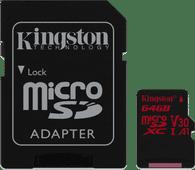 Kingston microSDXC Canvas React 64GB 100 MB/s + SD Adapter