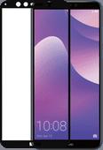 Azuri Gehard Glas Huawei Y7 (2018) Screenprotector Glas Zwart