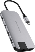 Hyper Slim USB C 8 In 1 Docking Station Space Gray