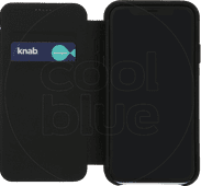 Decoded Leather Slim Wallet Apple iPhone Xr Book Case Zwart