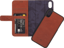 Decoded 2-in-1 Leather Wallet Apple iPhone Xs Max Book Case Brown