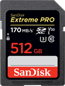 SanDisk SDXC Extreme Pro 512GB 170MB/s