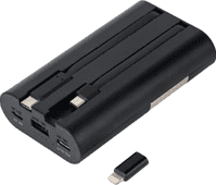 iWalk Secretary+ Quick Charge Powerbank 10.000 mAh Zwart