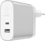 Belkin Dual Charger Without Cable 2 Usb Ports 27W Power Delivery 3.0 White