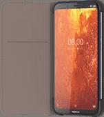 Nokia 8.1 Slim Flip Book Case Gray
