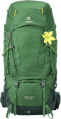 Deuter Aircontact 60L + 10L Leaf/Forest - Slim Fit