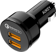 Aukey Car charger Dual USB 4.2A Quick Charge Micro usb Black