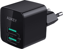 Aukey Usb A Home Charger with 2 Ports 4,8A Black