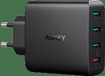 Aukey Oplader zonder Kabel 4 Usb Poorten 18W Quick Charge 3.0