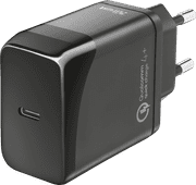 Trust Velox18 Charger without Cable Usb C 18W Power Delivery 3.0 + Quick Charge 4+ Black