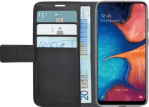 Azuri Wallet Magnet Samsung Galaxy A20e Book Case Black