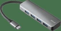 Trust Halyx Aluminium USB-C to 4 Port USB-A 3.2 Hub