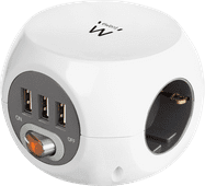 Ewent Socket With 3 Usb-A Ports 1.5m white
